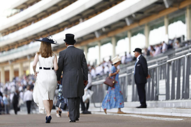 Britain Horse Racing - Royal Ascot - Ascot Racecourse - June 21, 2017 Racegoers before the races REUTERS/Eddie Keogh Livepic