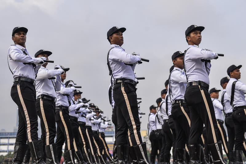 General view of the 212th Police Day Parade at the Police Training Centre (Pulapol) in Kuala Lumpur March 25, 2019. — Picture by Miera Zulyana