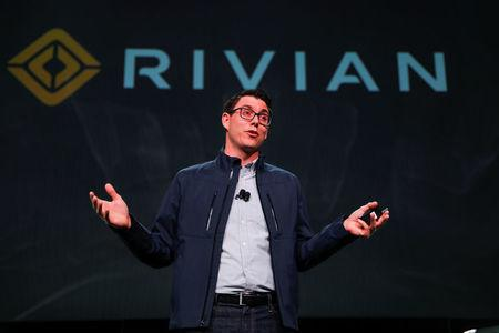 Rivian introduces all-electric pickup and SUV at LA Auto Show in Los Angeles