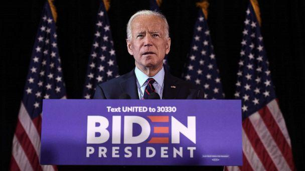 PHOTO: Democratic presidential hopeful Joe Biden makes a statement on Ukraine corruption during a press conference at the Hotel Du Pont on Sept. 23, 2019, in Wilmington, D.E. (AFP via Getty Images, FILE)