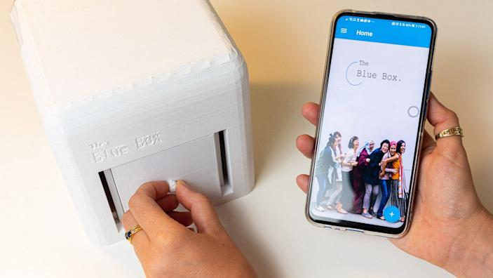 Judit Giró Benet's Breast-Cancer Detecting Blue Box transmits data directly to users' smartphones to give them fast, accurate at-home test results.