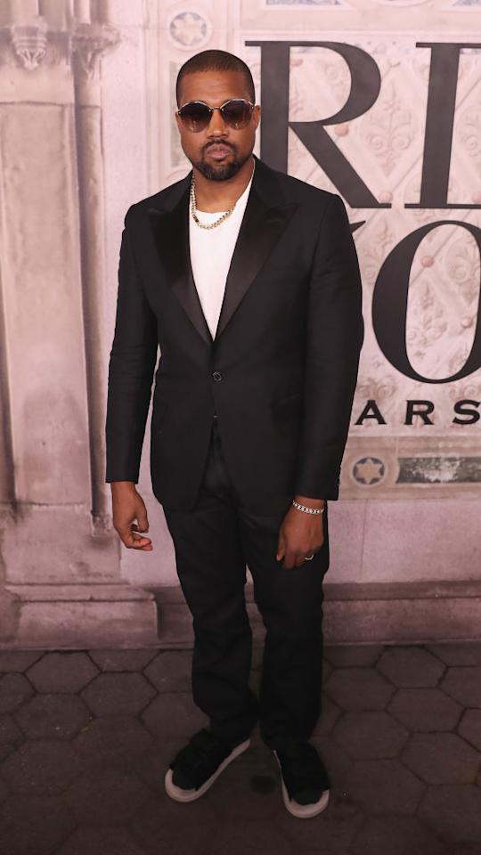 <p>Kanye West attends the Ralph Lauren 50th anniversary fashion show during New York Fashion Week at Bethesda Terrace on September 7, 2018 in New York City. (Photo: Rob Kim/Getty Images) </p>