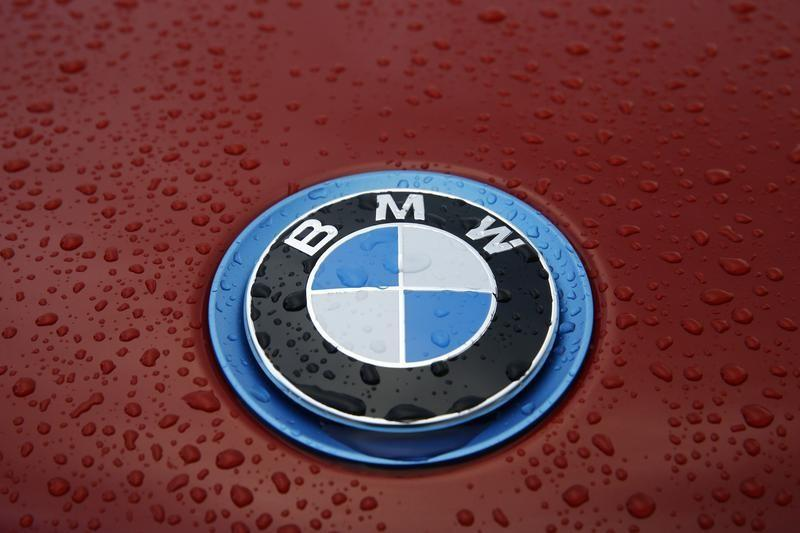Raindrops cover the bonnet of a BMW car in London