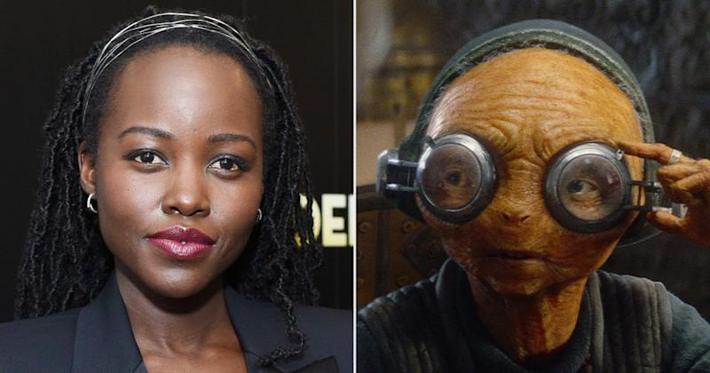Lupita Nyong'o Corrects Abby Huntsman After Host Asks 'How Long Hair and Makeup' Took on Star Wars