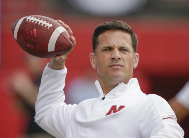 "FILE – Nebraska defensive coordinator Bob Diaco said he needs more time to get the defense up and running the way coaches and fans expect, adding that the players' tackling skills were so poor at the start of spring practice that ""to say alarming would be an understatement.""(AP Photo/Nati Harnik, File)"