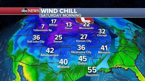PHOTO: The coldest air of the season will arrive into the Midwest and the South this weekend. (ABC News)