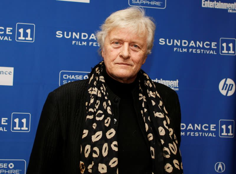"""FILE PHOTO: Actor Hauer of the movie """"The Mill and the Cross"""", poses for the media before the screening of the film during the Sundance Film Festival in Park City"""