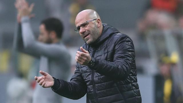 Peter Bosz's woes continued as 10-man Borussia Dortmund threw away a four-goal lead to draw 4-4 with Schalke in a thrilling Revierderby.