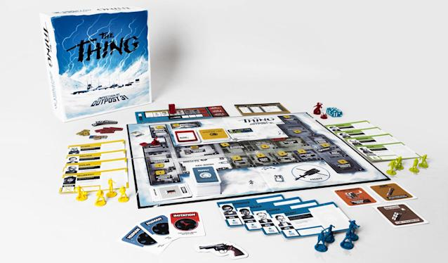 "<p>John Carpenter's terrifying sci-fi horror classic has been transformed into Mondo's insanely detailed board game where up to eight players assume the roles of the film characters, trying to suss out who has been infected by the Thing and then ultimately escape from the Antarctic base.<br><strong>Buy: <a href=""http://www.thinkgeek.com/product/khtu/"" rel=""nofollow noopener"" target=""_blank"" data-ylk=""slk:ThinkGeek"" class=""link rapid-noclick-resp"">ThinkGeek</a></strong> </p>"