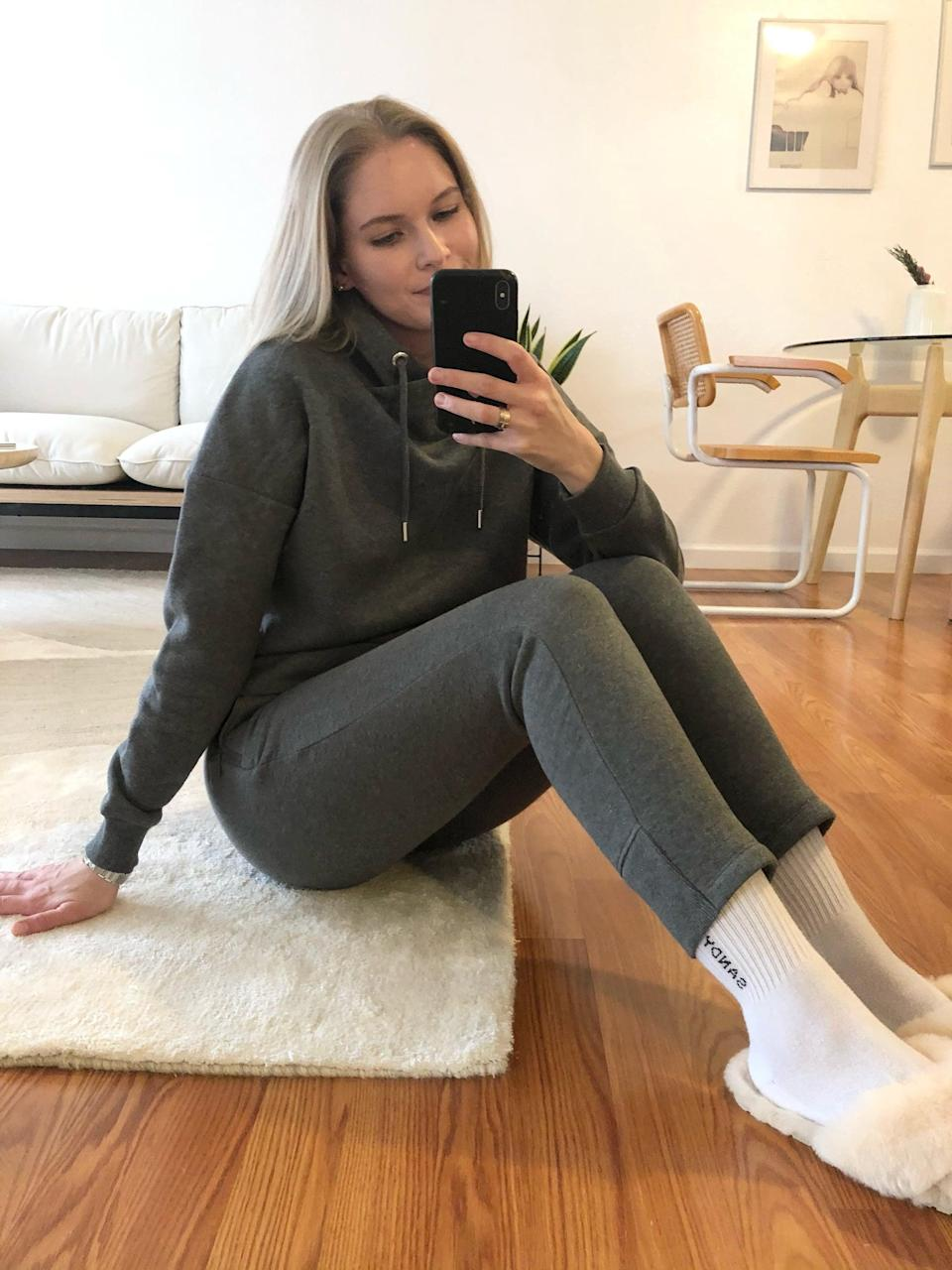 <p>The <span>Banana Republic Funnel-Neck Sweatshirt</span> ($55) and matching <span>Cozy Fleece Commuter Joggers</span> ($70) set is my favorite new thing to wear around the house or while working from home.</p>