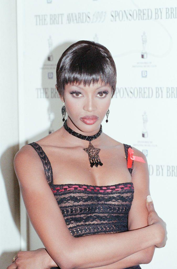 <p>The supermodel attended the BRITs in 1993 and presented the group Shakespeare's Sister with the best 'British Video' gong.</p>