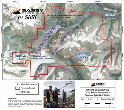 Sassy Resources Corporation: Foremore Gold-Silver Project (CNW Group/Sassy Resources Corp.)