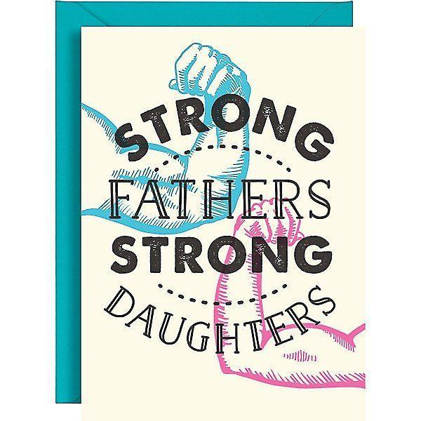 """<p><strong>Paper Source </strong></p><p>papersource.com</p><p><strong>$4.95</strong></p><p><a href=""""https://go.redirectingat.com?id=74968X1596630&url=https%3A%2F%2Fwww.papersource.com%2Fgreeting-cards%2Fstrong-fathers-strong-daughters-fathers-day-card-4661008195.html&sref=https%3A%2F%2Fwww.goodhousekeeping.com%2Fholidays%2Ffathers-day%2Fg27275337%2Ffathers-day-cards%2F"""" rel=""""nofollow noopener"""" target=""""_blank"""" data-ylk=""""slk:Shop Now"""" class=""""link rapid-noclick-resp"""">Shop Now</a></p><p>It's thanks to your strong old man that you grew up strong, too. Thank him with this sweet card that puts your father-daughter relationship on full display. </p>"""