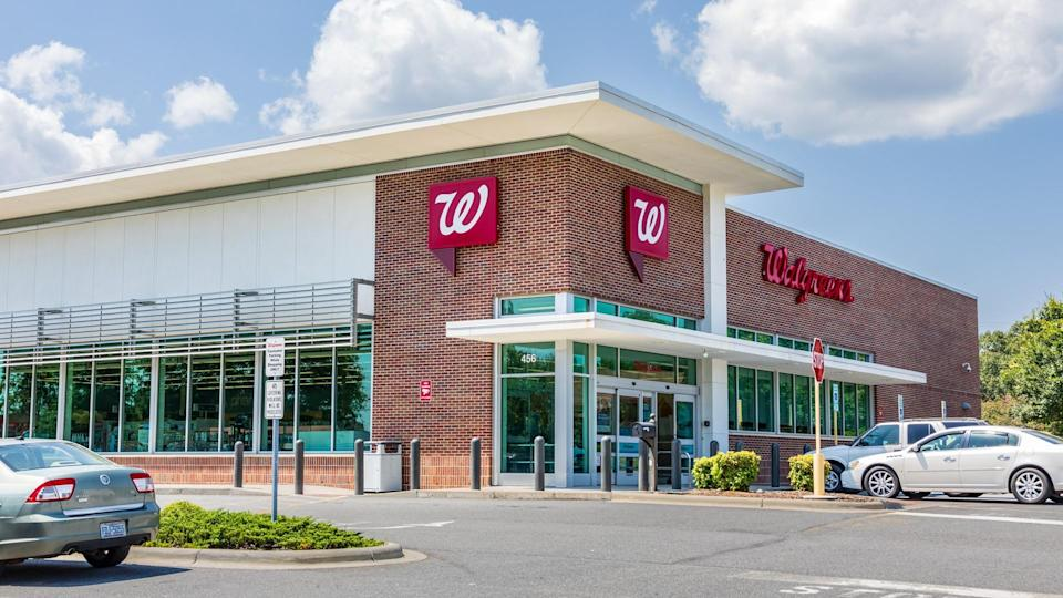 Shelby, NC, USA-9 August 2019: A Walgreens Pharmacy, building and parking lot.