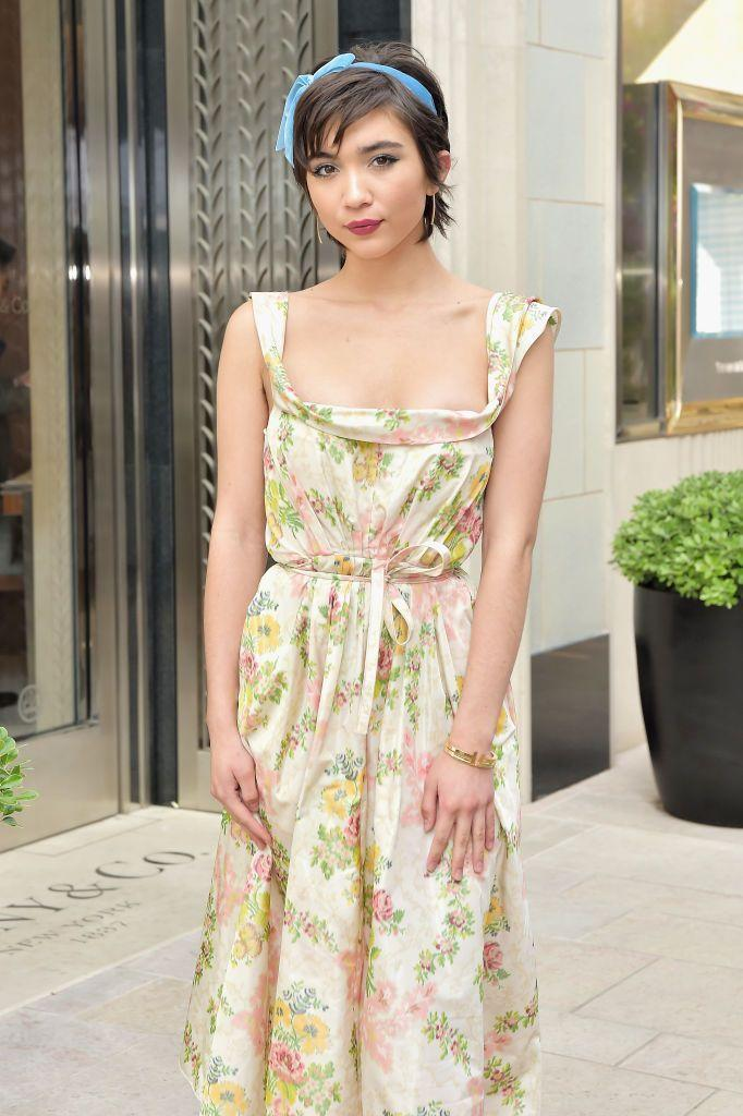 """<p>If she's been complaining about her long hair, consider getting a chop similar to <strong>Rowan Blanchard</strong>'s longer<a href=""""https://www.goodhousekeeping.com/beauty/hair/g409/celebrity-hairstyles-pixie/"""" rel=""""nofollow noopener"""" target=""""_blank"""" data-ylk=""""slk:pixie cut"""" class=""""link rapid-noclick-resp""""> pixie cut</a>. And no matter what length she has, tying a ribbon adds flair to any hairstyle. </p>"""
