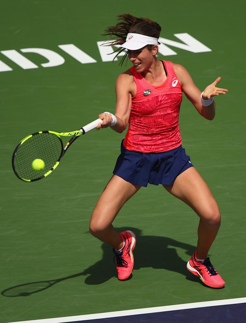 Tennis - Konta downs Watson in all-British battle at Indian Wells
