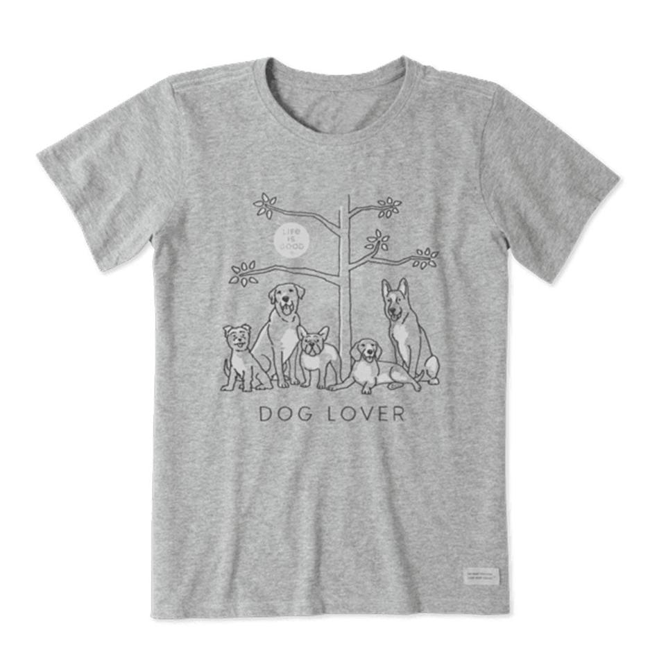 <p>They say you are what you wear, and this shirt has a very clear message. </p> <p><strong>Buy it!</strong> Dog Lover Tree Crusher Tee, $28.00; <span>LifeIsGood.com</span></p>