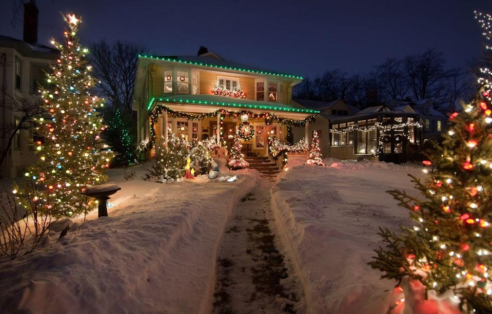 <p>If the weather outside makes your noses look like Rudolph's, hop in the car and take a spin around town ooh-ing and aah-ing at Christmas lights. At the end, everyone can vote on their favorite house. Don't forget to turn up those holiday tunes as you drive. </p>