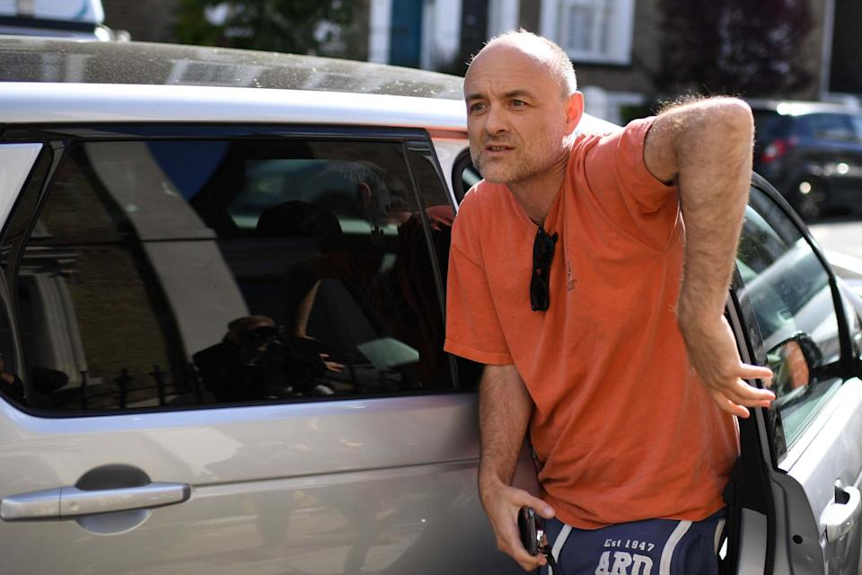 The chief adviser is facing calls to resign over the alleged lockdown breach (AFP via Getty Images)