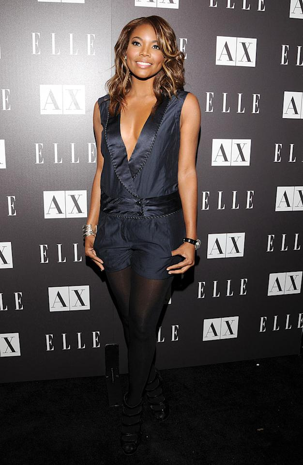 """FlashForward"" actress Gabrielle Union glowed in her navy romper, but we're not crazy about her decision to pair it with black tights. Do you think it's hot or not? Mark Sullivan/<a href=""http://www.wireimage.com"" target=""new"">WireImage.com</a> - May 25, 2010"
