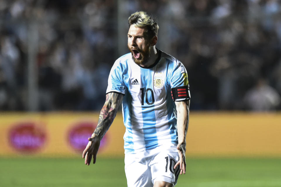 If qualifying ended today, Lionel Messi and Argentina would be forced to win a playoff or miss out on the World Cup. (Getty)
