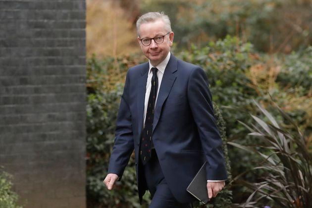 Cabinet Office minister Michael Gove arrives at 10 Downing Street in London.