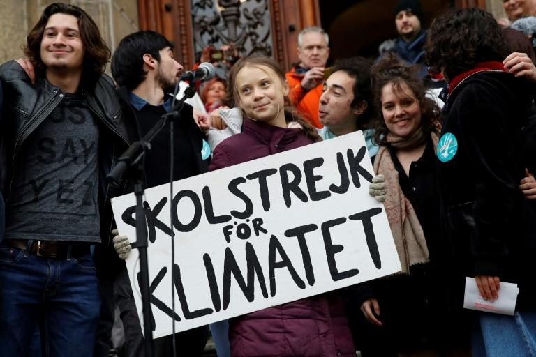 """Greta Thunberg told world leaders """"you haven't seen anything yet"""" as she spoke to a climate protest crowd in Lausanne (AFP Photo/STEFAN WERMUTH)"""