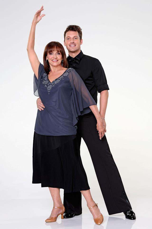 """Valerie Harper partners with Tristan Macmanus on ABC's """"Dancing With the Stars"""" Season 17."""