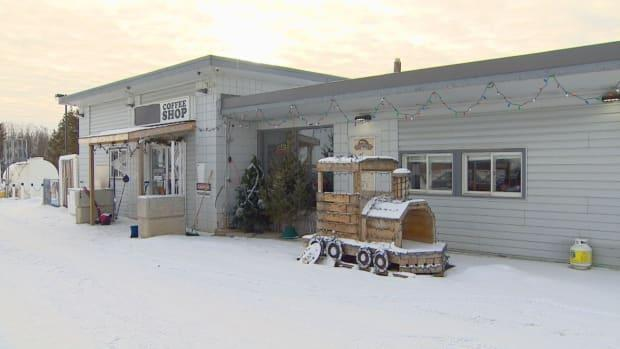 With restrictions in-person dining now lifted, AHS is no longer pursuing compliance against the Whistle Stop Cafe in Mirror, about 70 kilometres northeast of Red Deer.  (Scott Neufeld/CBC - image credit)