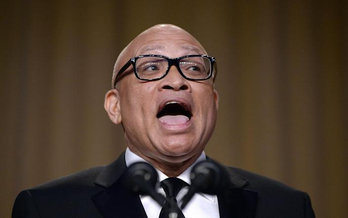<p>Comedian Larry Wilmore speaks during the White House Correspondents' Dinner, April 30. This is President Obama's eighth and final White House Correspondents' Dinner. <i>(Photo: Olivier Douliery-Pool/Getty Images)</i></p>