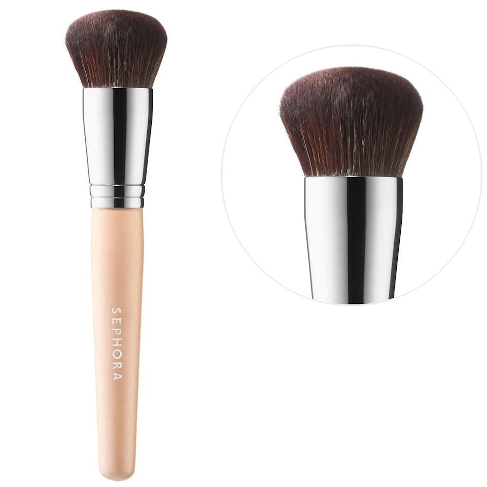 <p>The <span>Sephora Collection Makeup Match Foundation Brush</span> ($16) will seamlessly blend your liquid or cream foundation with its dense yet flexible fibers.</p>