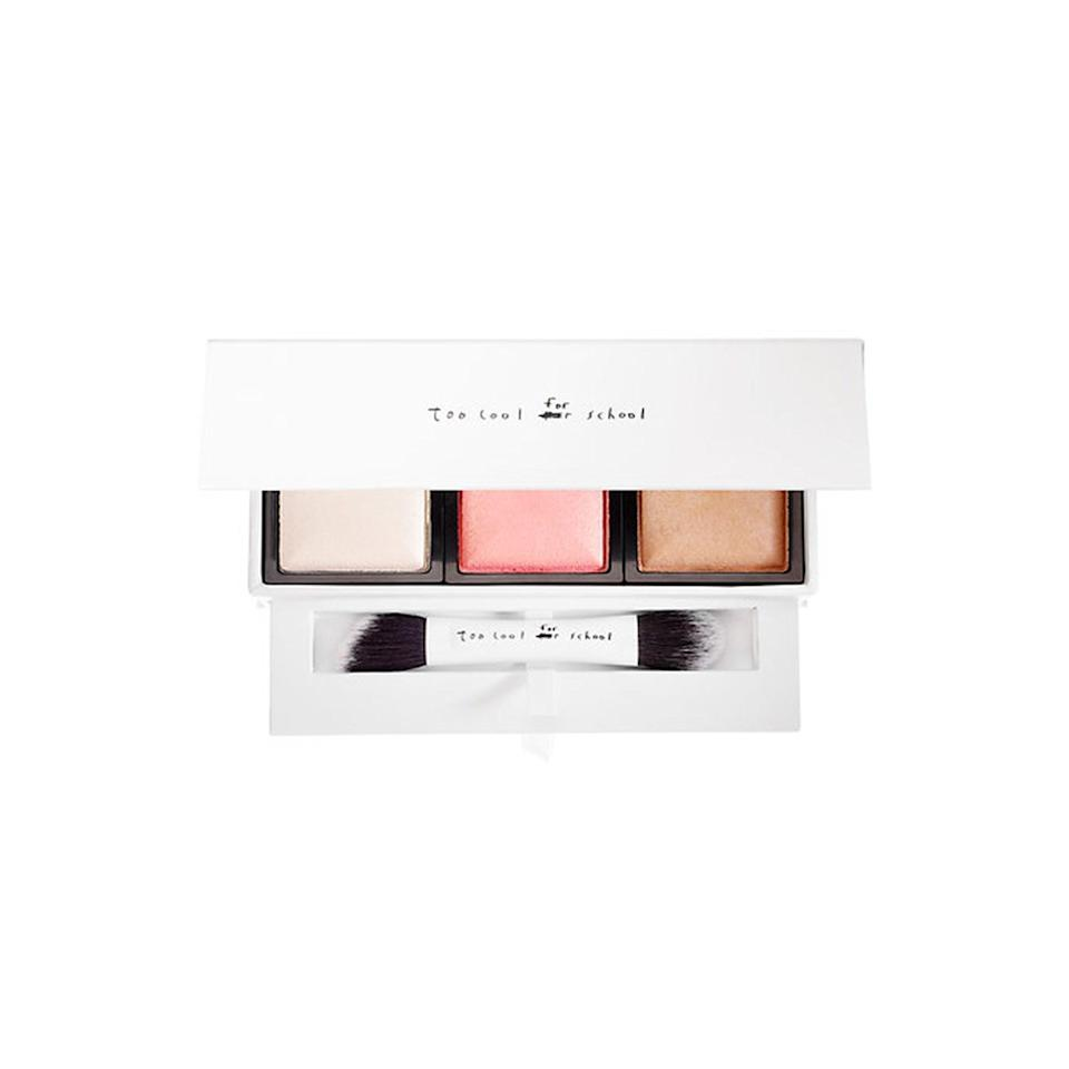 """<p><strong>Too Cool For School Dinoplatz Triceratops Multi-Face Palette</strong></p> <p>Although most contouring kits offer up all matte shades, this palette is all about letting you get your glow on, with three shimmery shades.</p> <p>$48 (<a href=""""http://www.sephora.com/dinoplatz-triceratops-multi-palette-P405263?mbid=synd_yahoobeauty"""" rel=""""nofollow noopener"""" target=""""_blank"""" data-ylk=""""slk:sephora.com"""" class=""""link rapid-noclick-resp"""">sephora.com</a>).</p>"""