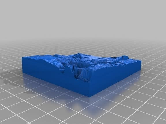 A 3D model of Ames, Iowa, created for teaching Iowa State University geology students about topography.