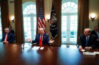 U.S. President Trump participates in meeting with energy sector CEOs at the White House in Washington