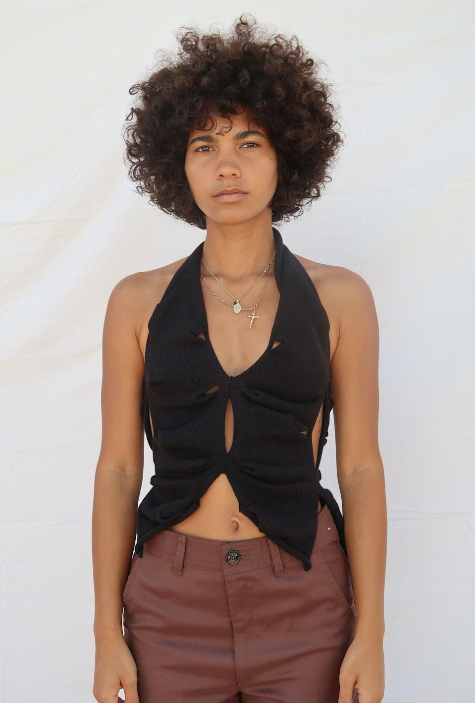 """<strong><h2>Krystal Paniagua</h2></strong>Knitwear designer Krystal Paniagua is a favorite of Kylie Jenner. The Puerto Rican designer makes sculptural knitwear, including ruched asymmetric tops and uneven skirts, all made by hand in her London studio. <br><br><em>Shop <a href=""""https://krystalpaniagua.com/"""" rel=""""nofollow noopener"""" target=""""_blank"""" data-ylk=""""slk:Krystal Paniagua"""" class=""""link rapid-noclick-resp"""">Krystal Paniagua</a></em>"""
