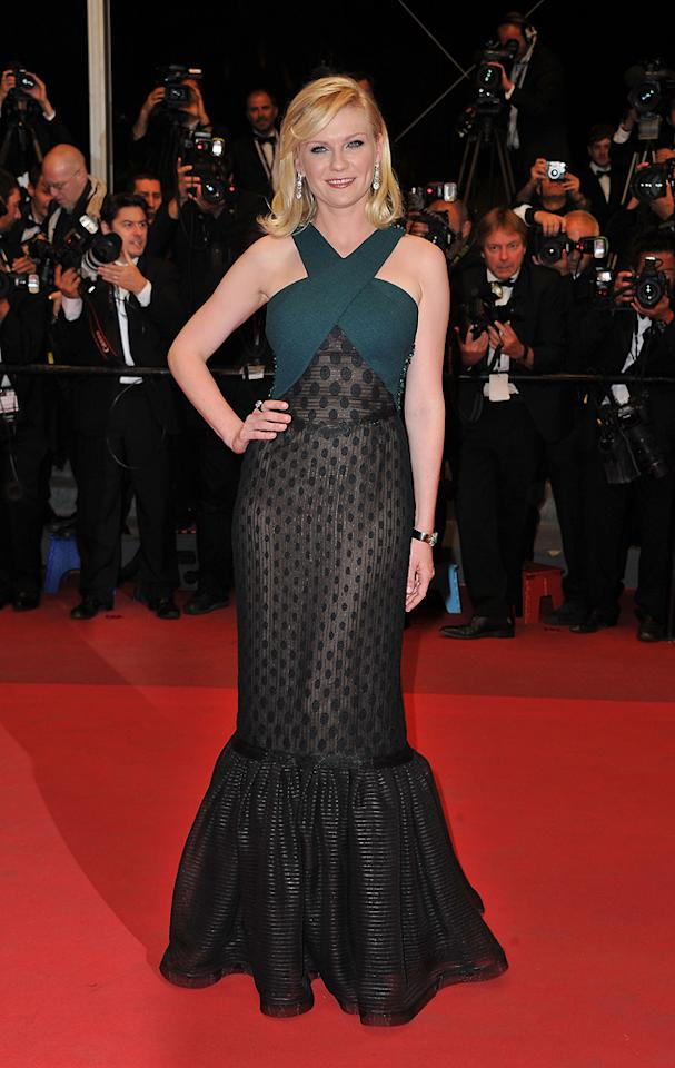 "<a href=""http://movies.yahoo.com/movie/contributor/1800018860"">Kirsten Dunst</a> attends the 64th Annual Cannes Film Festival premiere of ""Meloncholia"" on May 18, 2011."