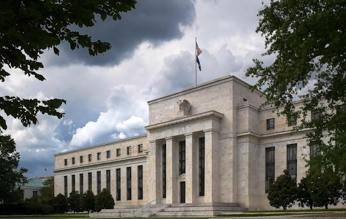 the exterior of the federal reserve building in washington, dc