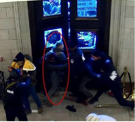 Prosecutors said Christopher Warnagiris entered the Capitol through the doorway to the East Rotunda. / Credit: Department of Justice