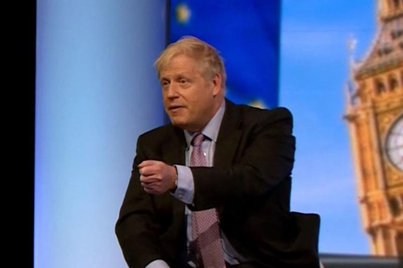 Boris Johnson was challenged by Emily Maitlis over his
