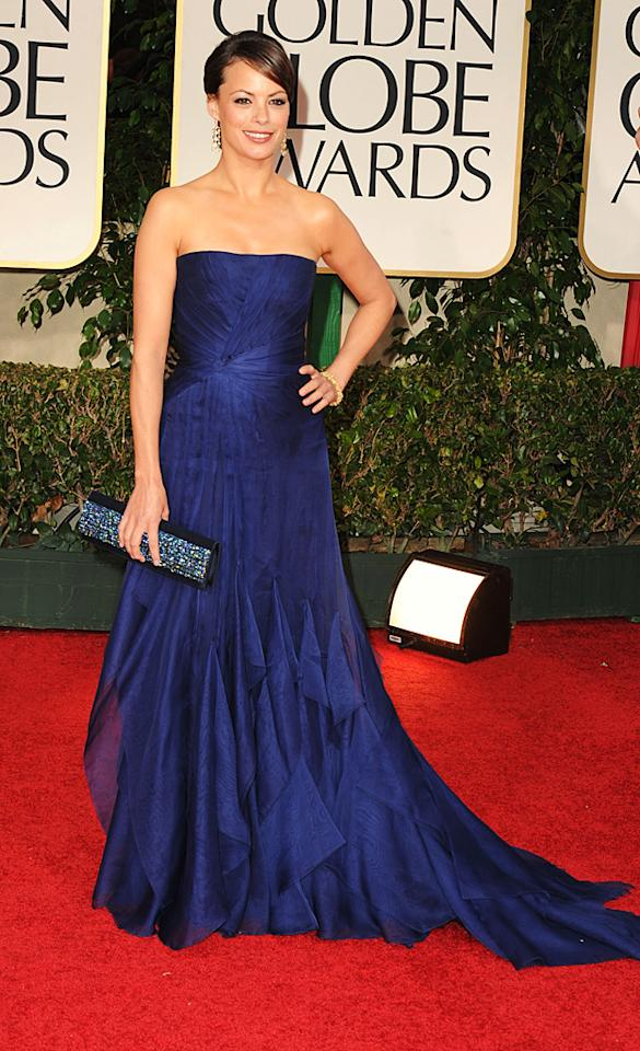 Berenice Bejo arrives at the 69th Annual Golden Globe Awards in Beverly Hills, California, on January 15