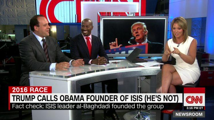 Trump's comments have forced media outlets like CNN to fact-check them in real time. (CNN)