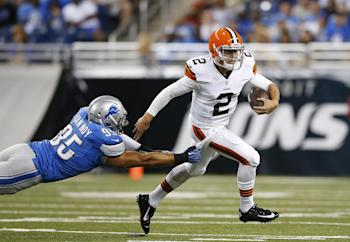 Johnny Manziel rushed for 27 yards on six attempts Saturday. (AP Photo)