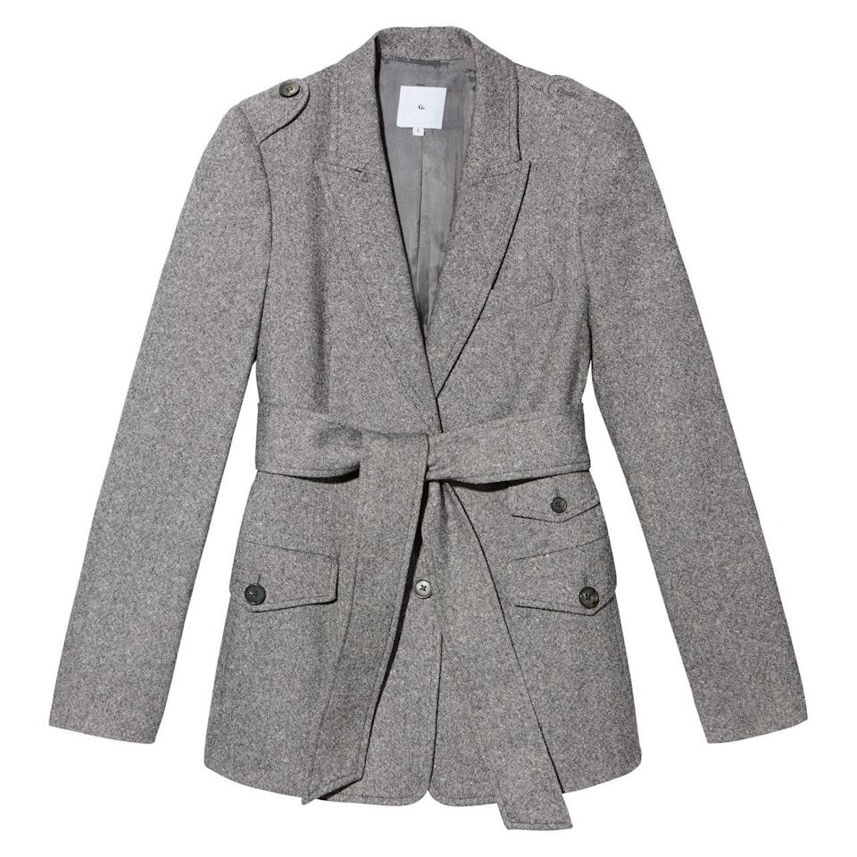 <p>The Pattner Peak lapel blazer</p>