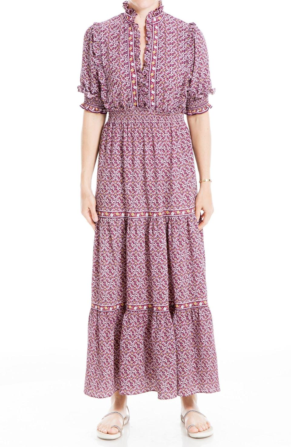 """<h2>Max Studio Tiered Maxi Dress</h2><br>You don't need to be style savant to know that anything of the <a href=""""https://www.refinery29.com/en-us/the-nap-dress-best-styles"""" rel=""""nofollow noopener"""" target=""""_blank"""" data-ylk=""""slk:prairie-chic, nap dress variety"""" class=""""link rapid-noclick-resp"""">prairie-chic, nap dress variety</a> has been all the rage for over a year now (with no sign of slowing down in popularity, BTW). And of course, Nordstrom Rack has a way to get in on the trend at a major discount.<br><br><strong>The Hype:</strong> 4 out of 5 stars; 238 reviews on <a href=""""https://www.nordstromrack.com/s/max-studio-elbow-length-sleeve-print-tiered-maxi-dress/6043768"""" rel=""""nofollow noopener"""" target=""""_blank"""" data-ylk=""""slk:NordstromRack.com"""" class=""""link rapid-noclick-resp"""">NordstromRack.com</a><br><br><strong>What They're Saying:</strong> """"This dress is AWESOME! Would 1,000% recommend! Fit is great and I received a lot of compliments the night i wore it out!"""" — lauren, NordstromRack.com reviewer<br><br><strong>Max Studio</strong> Print Tiered Maxi Dress, $, available at <a href=""""https://go.skimresources.com/?id=30283X879131&url=https%3A%2F%2Fwww.nordstromrack.com%2Fs%2Fmax-studio-elbow-length-sleeve-print-tiered-maxi-dress%2F6043768"""" rel=""""nofollow noopener"""" target=""""_blank"""" data-ylk=""""slk:Nordstrom Rack"""" class=""""link rapid-noclick-resp"""">Nordstrom Rack</a>"""