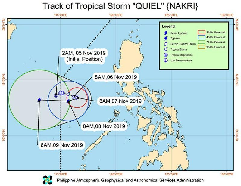 'Quiel' slightly intensifies, remains almost stationary
