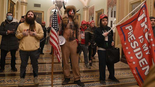 PHOTO: Supporters of US President Donald Trump enter the U.S. Capitol on Jan. 6, 2021, in Washington, D.C. Demonstrators breeched security and entered the Capitol as Congress debated the a 2020 presidential election Electoral Vote Certification. (Mandel Ngan/AFP via Getty Images)