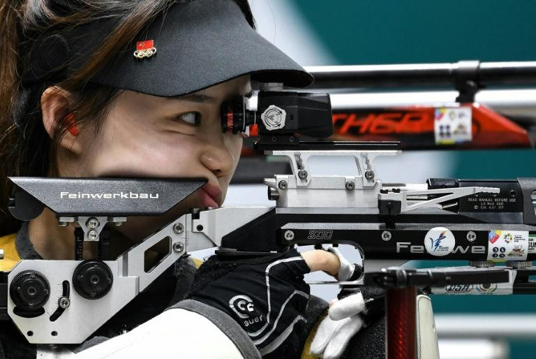 China's Zhao Ruozhu was a silver-medallist in the 10m air rifle mixed team event