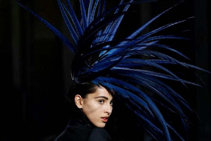 Who is cock of the walk now? Julien Fournie hailed witches as trailblazing feminists in his Paris haute couture show (AFP Photo/FRANCOIS GUILLOT)