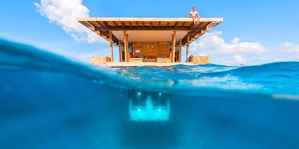 """<p>If you want to sleep with the fishes (but wake up the next morning), you can stay overnight in a hotel that offers underwater suites, such as the super luxurious <a href=""""https://go.redirectingat.com?id=74968X1596630&url=https%3A%2F%2Fwww.tripadvisor.com%2FHotel_Review-g295424-d1022759-Reviews-Atlantis_The_Palm-Dubai_Emirate_of_Dubai.html&sref=https%3A%2F%2Fwww.elledecor.com%2Flife-culture%2Fg37430670%2Funique-unusual-hotels-in-the-world%2F"""" rel=""""nofollow noopener"""" target=""""_blank"""" data-ylk=""""slk:Atlantis, the Palm"""" class=""""link rapid-noclick-resp"""">Atlantis, the Palm</a> in <a href=""""https://www.bestproducts.com/fun-things-to-do/a2123/things-to-do-in-dubai/"""" rel=""""nofollow noopener"""" target=""""_blank"""" data-ylk=""""slk:Dubai"""" class=""""link rapid-noclick-resp"""">Dubai</a>, which has floor-to-ceiling windows overlooking its massive aquarium. </p><p>Other resorts with underwater suites include Singapore's <a href=""""https://go.redirectingat.com?id=74968X1596630&url=https%3A%2F%2Fwww.tripadvisor.com%2FHotel_Review-g294264-d9716615-Reviews-Resort_World_Sentosa_Ocean_Suites-Sentosa_Island.html&sref=https%3A%2F%2Fwww.elledecor.com%2Flife-culture%2Fg37430670%2Funique-unusual-hotels-in-the-world%2F"""" rel=""""nofollow noopener"""" target=""""_blank"""" data-ylk=""""slk:Resort World Sentosa"""" class=""""link rapid-noclick-resp"""">Resort World Sentosa</a>, Zanzibar's <a href=""""https://go.redirectingat.com?id=74968X1596630&url=https%3A%2F%2Fwww.tripadvisor.com%2FHotel_Review-g480245-d509944-Reviews-The_Manta_Resort-Pemba_Island_Zanzibar_Archipelago.html&sref=https%3A%2F%2Fwww.elledecor.com%2Flife-culture%2Fg37430670%2Funique-unusual-hotels-in-the-world%2F"""" rel=""""nofollow noopener"""" target=""""_blank"""" data-ylk=""""slk:Manta Resort"""" class=""""link rapid-noclick-resp"""">Manta Resort</a> (shown), and the soon-to-debut dazzling Muraka villa below the Indian Ocean in the <a href=""""https://go.redirectingat.com?id=74968X1596630&url=https%3A%2F%2Fwww.tripadvisor.com%2FHotel_Review-g298325-d300676-Reviews-Conrad_Maldives_Rangali_Island-Rang"""