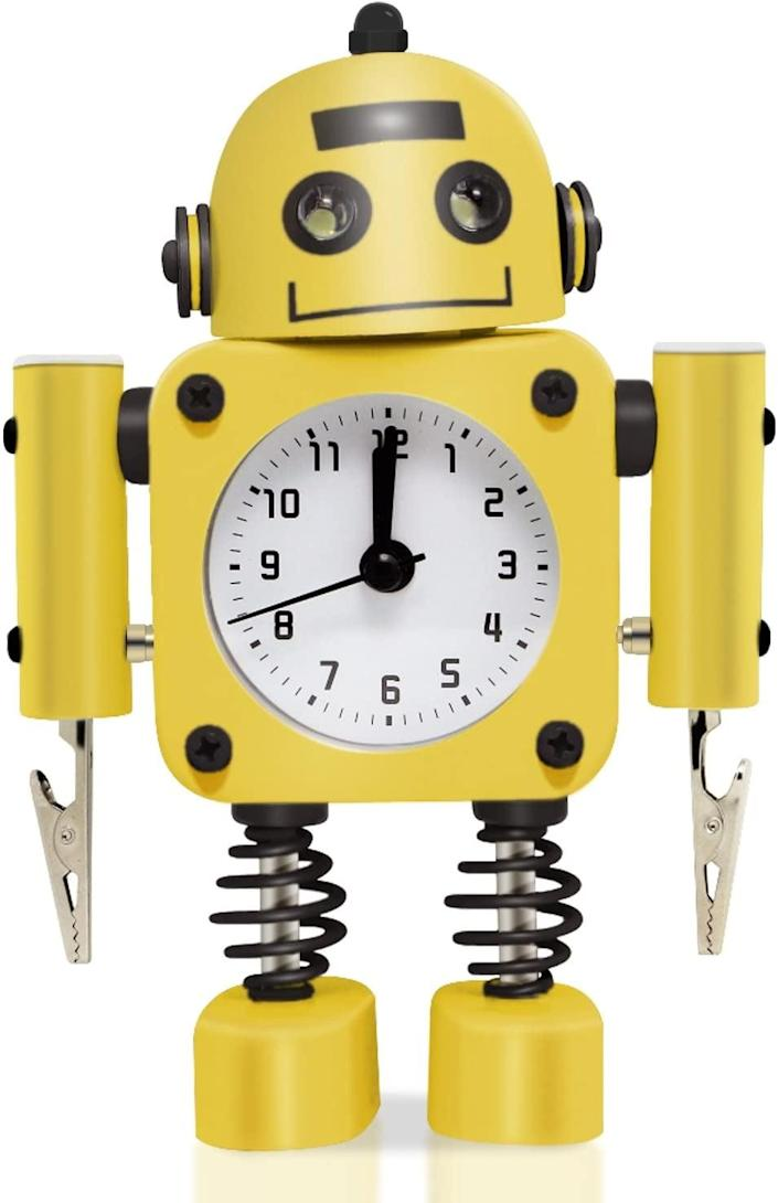 <p>Kids will love this <span>Betus Robot Alarm Clock</span> ($16). </p>